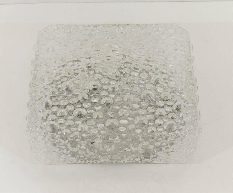 Square Bubble Textured Flush Mount 6