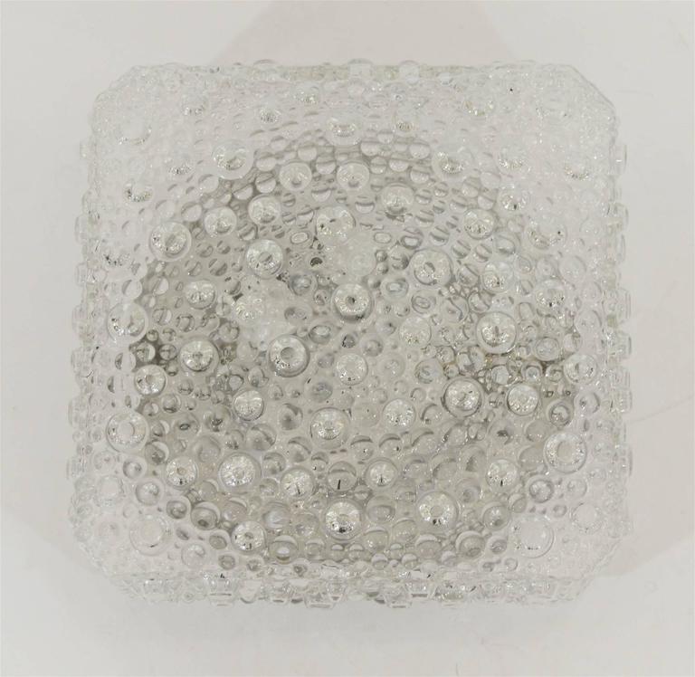 Square Bubble Textured Flush Mount 7