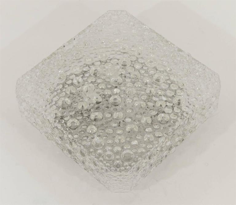Square Bubble Textured Flush Mount 3