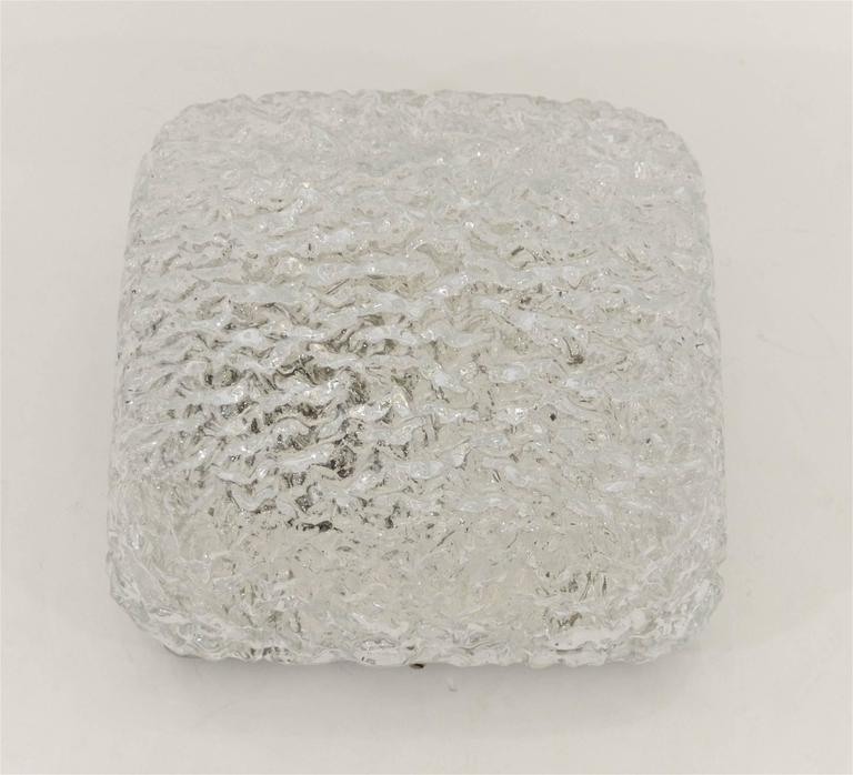 Petite Limburg Crackle Glass Flush Mount 6