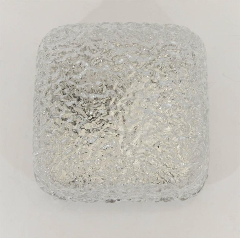 Petite Limburg Crackle Glass Flush Mount 7