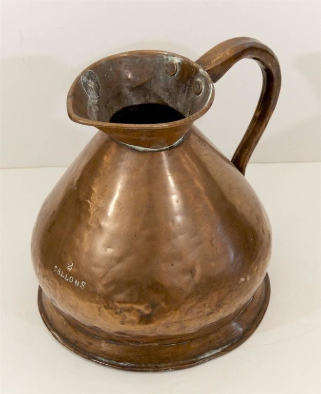 Large Copper Watering Pitcher 4