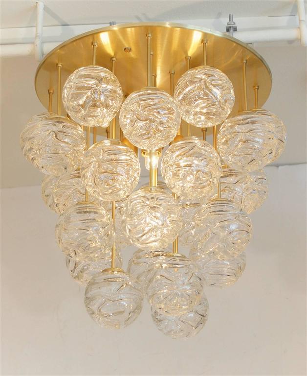 Large Doria Flush Mount with Spun Glass Globes 2