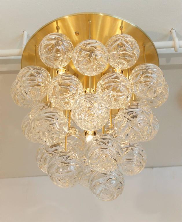 Large Doria Flush Mount with Spun Glass Globes 3