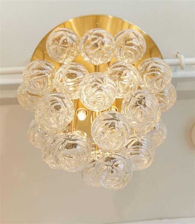 Large Doria Flush Mount with Spun Glass Globes 4