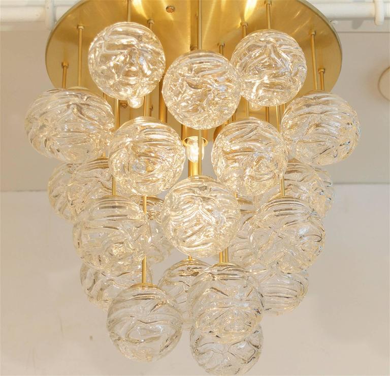 Large Doria Flush Mount with Spun Glass Globes 5