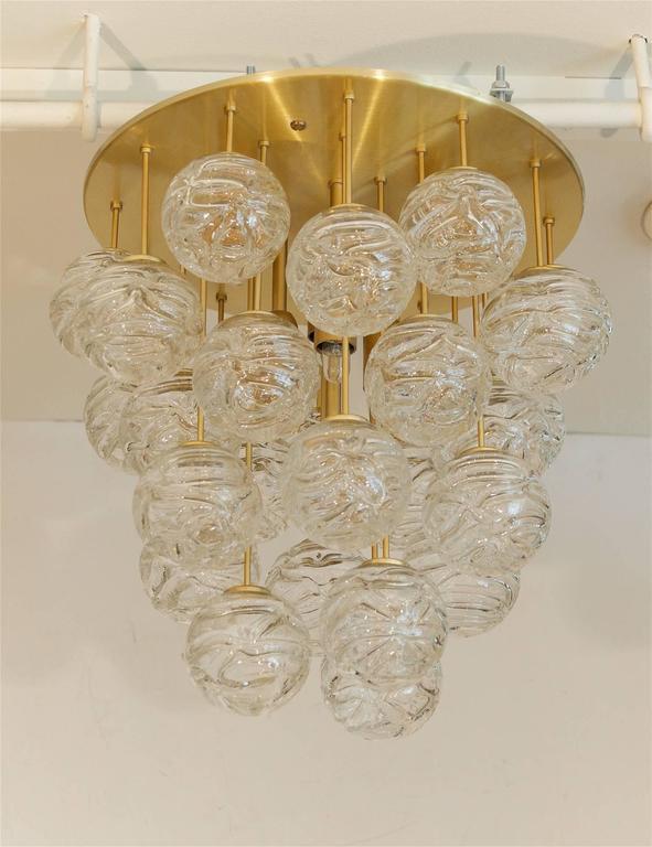 Large Doria Flush Mount with Spun Glass Globes 6