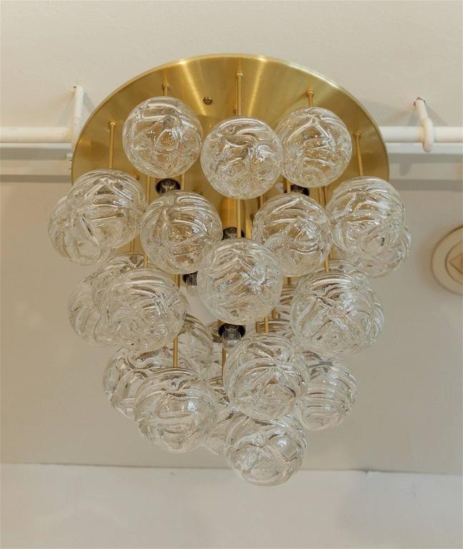 Large Doria Flush Mount with Spun Glass Globes 7