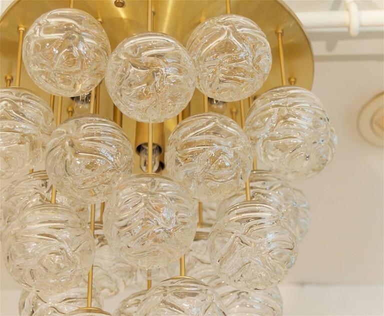 Large Doria Flush Mount with Spun Glass Globes 8