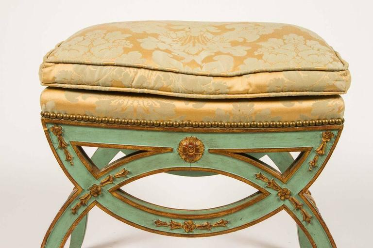 Wood French, 19th Century Painted Bench For Sale