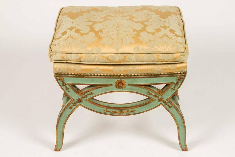 French, 19th Century Painted Bench For Sale 2