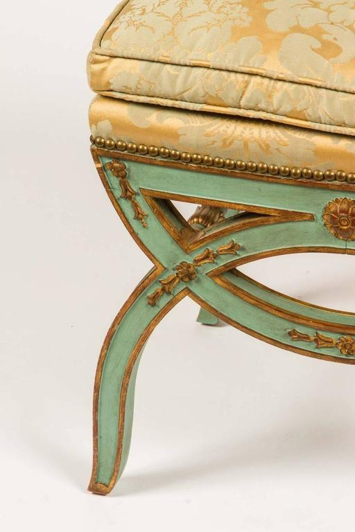 French, 19th Century Painted Bench For Sale 5