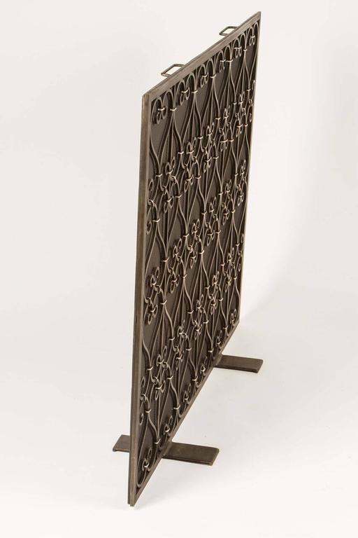 custom wrought iron fire screen for sale at 1stdibs
