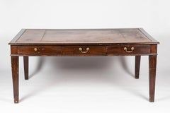 English Leather Top Desk