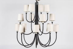 Custom Wrought Iron Chandelier with 16 Lights