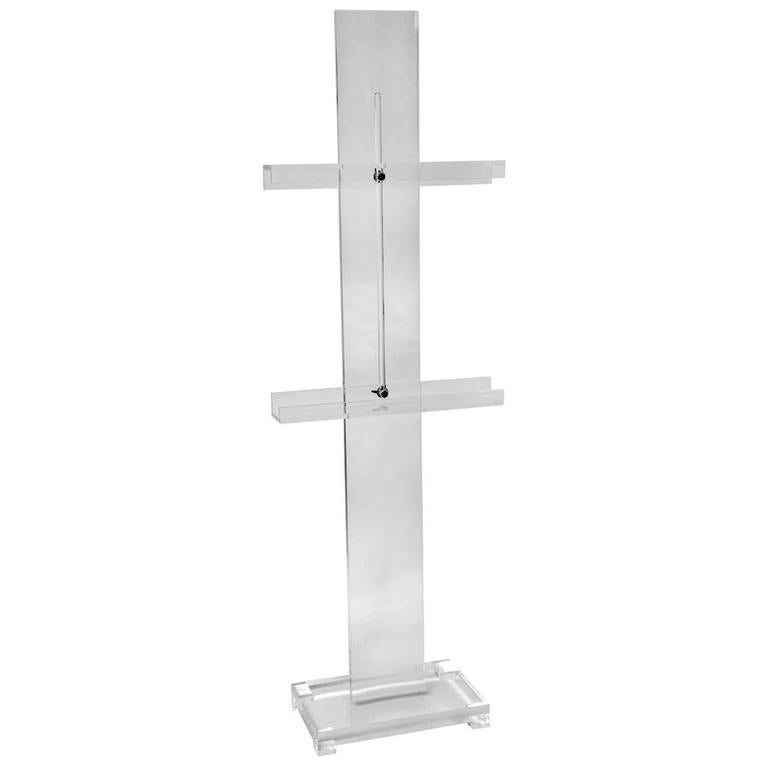 Thick Lucite Art Or Display Easel For