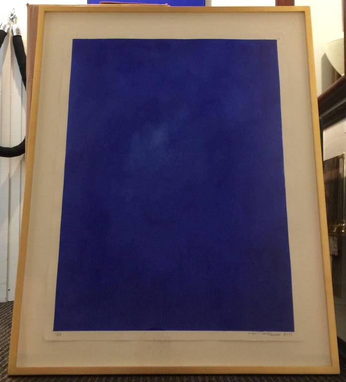 "Original Framed Abstract ""Yves Klein Bleu"" Series by Francisco Franco 2"