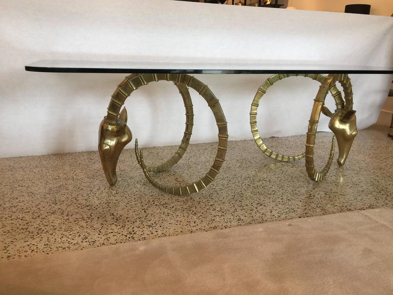 Sculptural Ibex Heads Table Attributed to Alain Chervet In Good Condition For Sale In East Hampton, NY