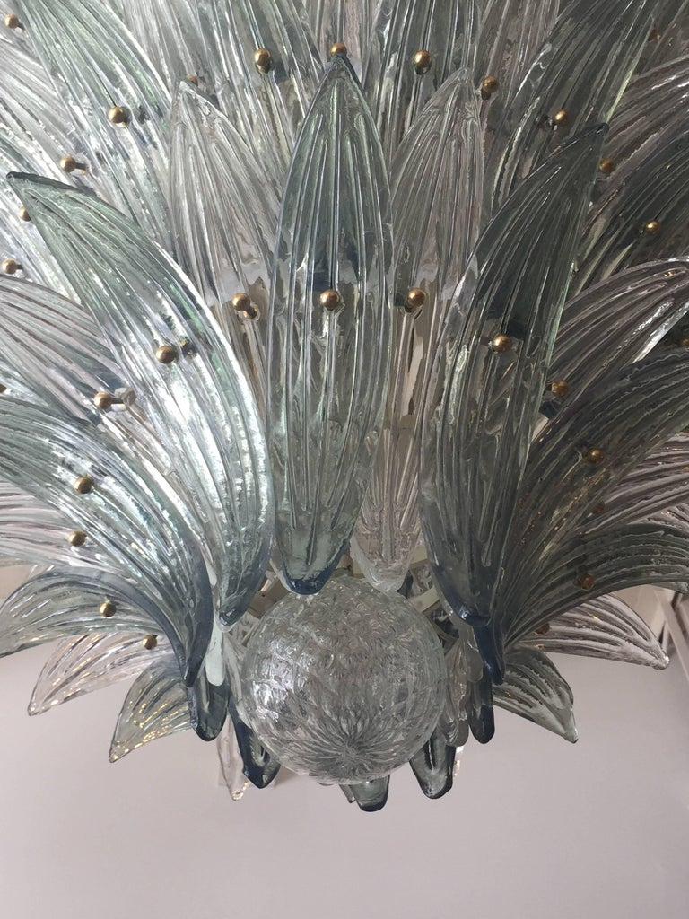 Oversized Italian Murano Palm Style Chandelier For Sale 3