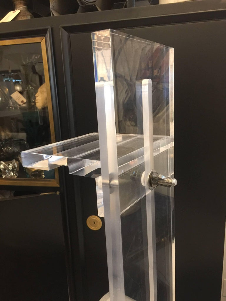 American Lucite Art/ Photography Display Easel, Tabletop For Sale