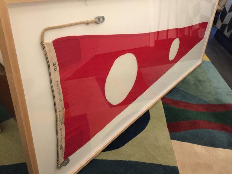 Mid-20th Century Professionally Framed WW II Nautical Signal Flag For Sale