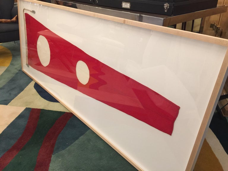 Professionally Framed WW II Nautical Signal Flag For Sale 3