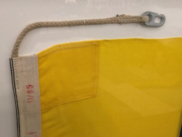 WW II Nautical Signal Flag In Excellent Condition For Sale In East Hampton, NY
