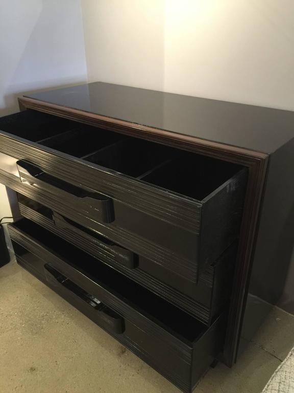 Lacquered Pair of American 1940s Gentlemen's Chest of Drawers For Sale