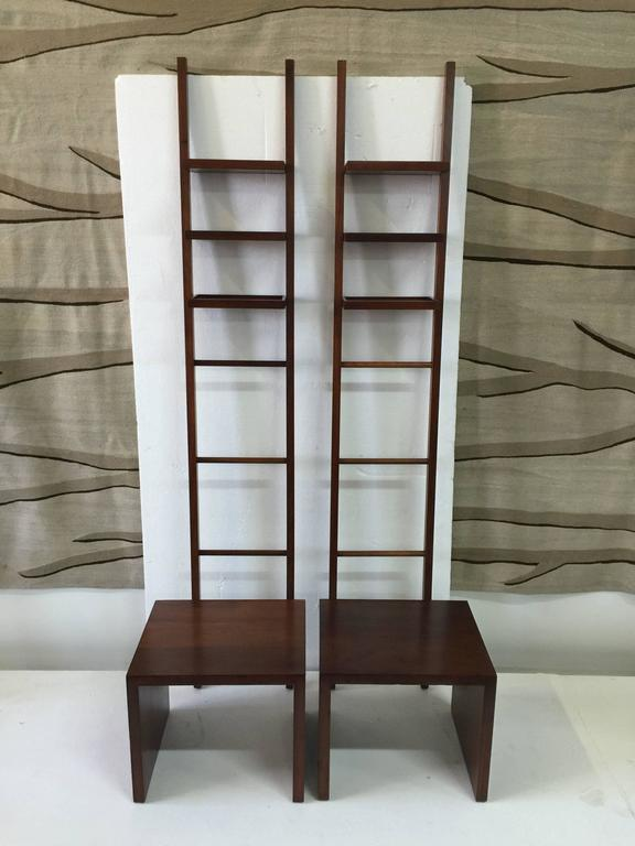 Philippe Starck Teak Ladder and Bench In Good Condition For Sale In East Hampton, NY