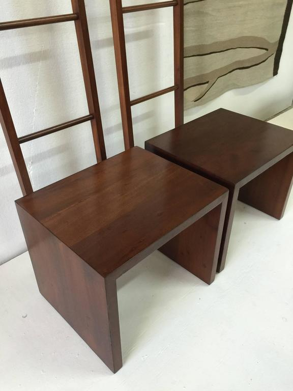 American Philippe Starck Teak Ladder and Bench For Sale