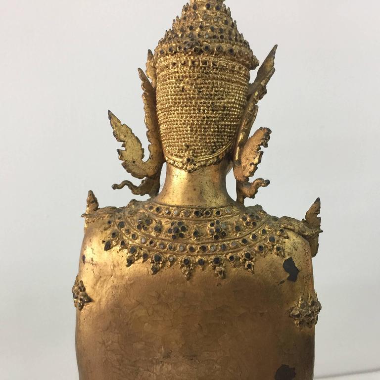 Antique Gilt Bronze Buddha Sculptures from Laos/Thailand For Sale 1
