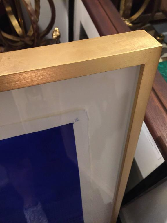 "Original Framed Abstract ""Yves Klein Bleu"" Series by Francisco Franco 4"