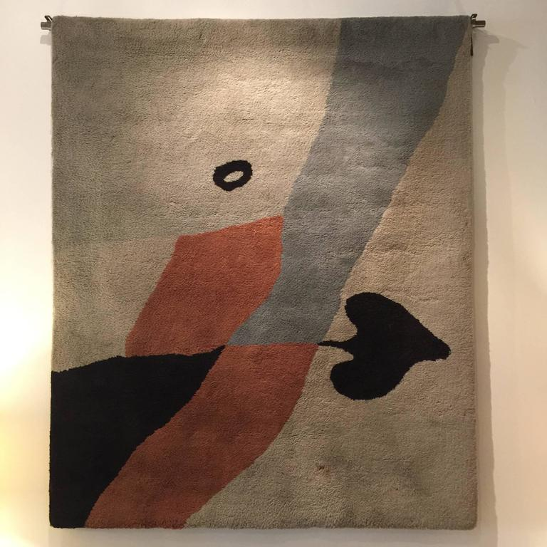Rug/Wall Art by Jean Arp Edition Marie Cuttoli/Lucie Weill In Good Condition For Sale In East Hampton, NY