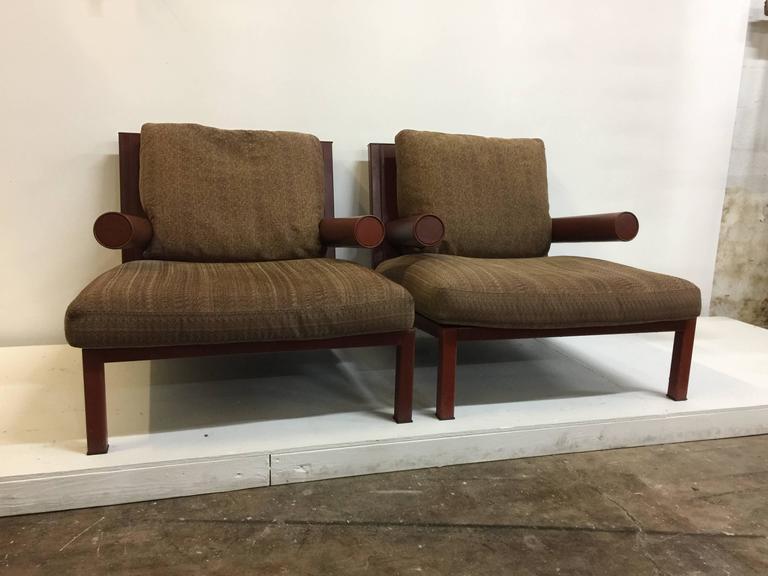 "Antonio Citterio Original ""Baisity"" Lounge Chairs for B & B Italia, Pair 5"