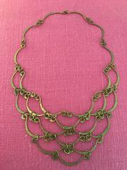 Exceptional Calder Inspired Handmade Brass Necklace