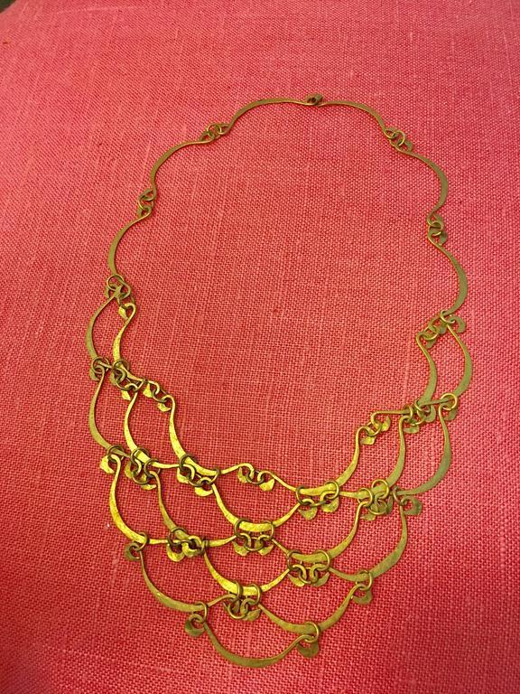 Calder Inspired Handmade Brass Necklace 2