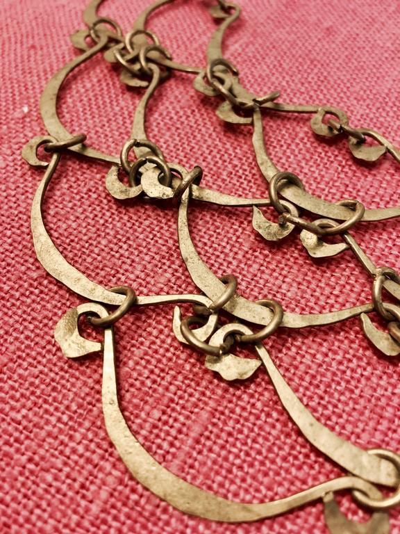 Calder Inspired Handmade Brass Necklace 3