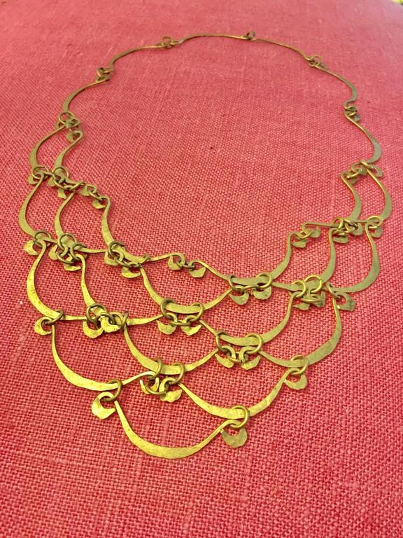 Calder Inspired Handmade Brass Necklace 5