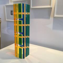 Large Neon Lucite Tower Sculpture VASA Inspired
