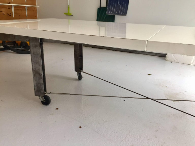 Architect James D'auria Industrial Dining or Conference Table  In Good Condition For Sale In East Hampton, NY