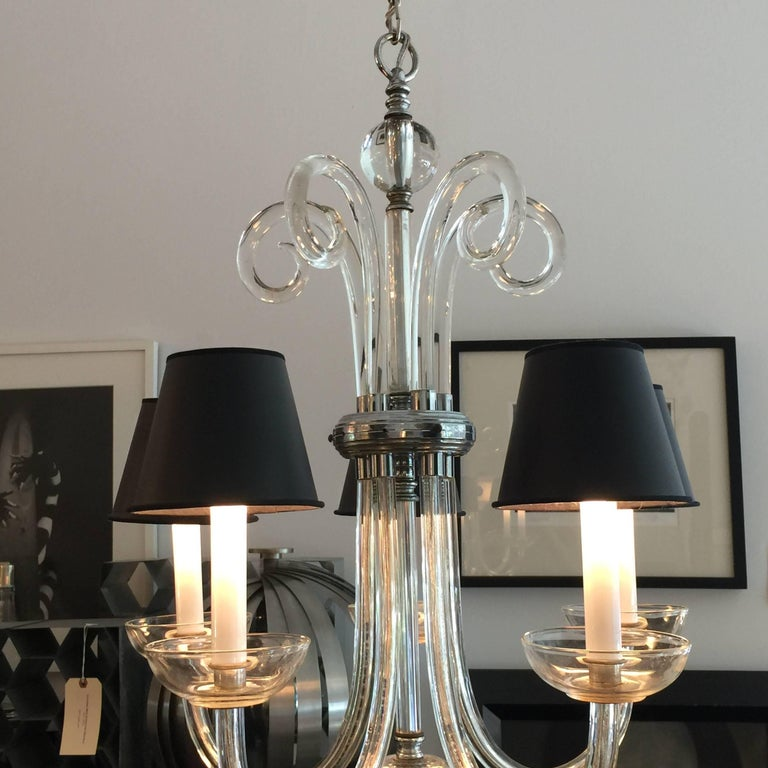 Austrian Deco Crystal Five-Arm Chandelier 3
