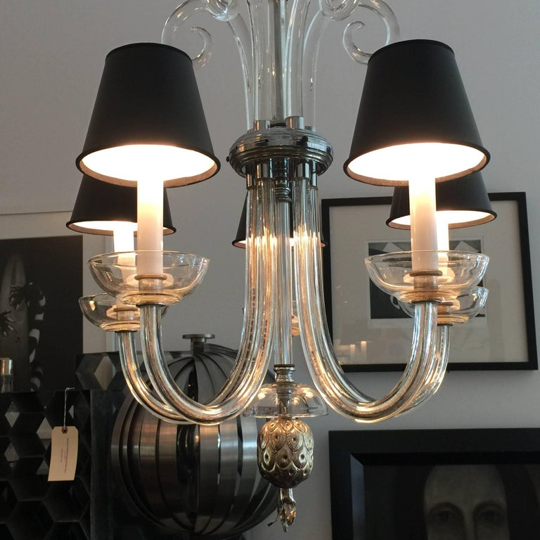 Austrian Deco Crystal Five-Arm Chandelier 6