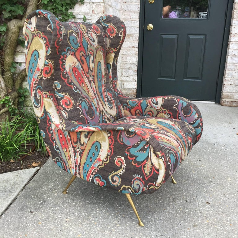 Mid-20th Century Pair of Zanuso Style Vintage Italian Armchairs For Sale