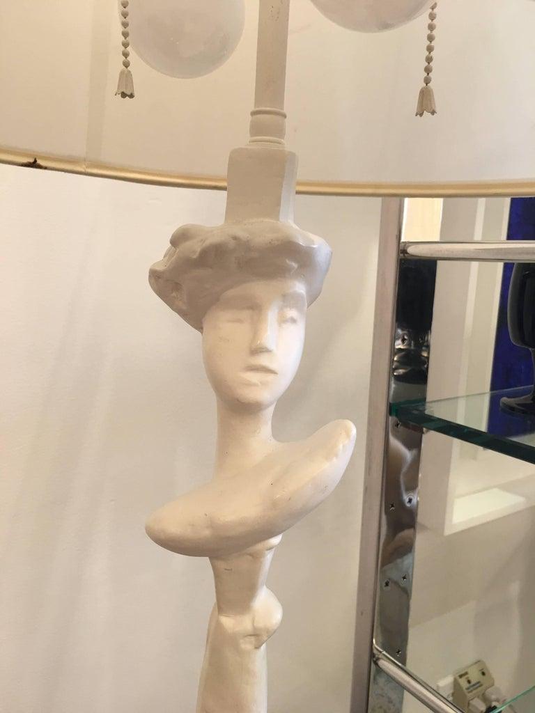American Sirmos Masque Table Lamp, Giacometti Design For Sale