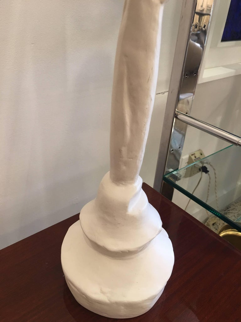 Sirmos Masque Table Lamp, Giacometti Design In Excellent Condition For Sale In East Hampton, NY