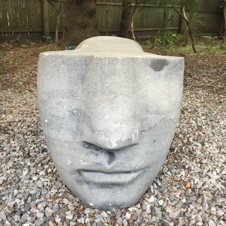Honed Grey Stone Sculpture 2
