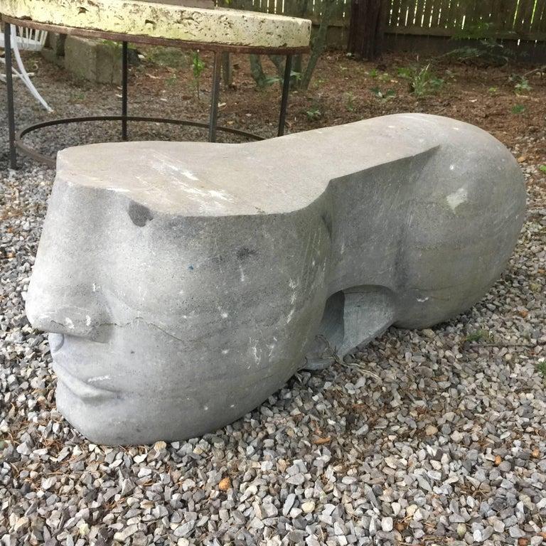 Honed Grey Stone Sculpture 3