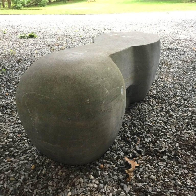 Honed Grey Stone Sculpture 4