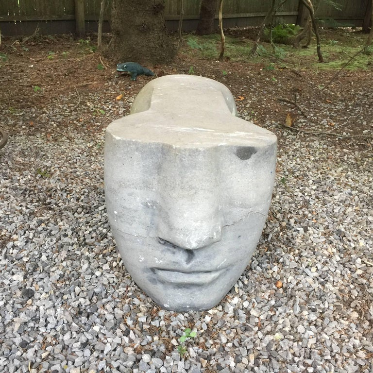 Honed Grey Stone Sculpture 6