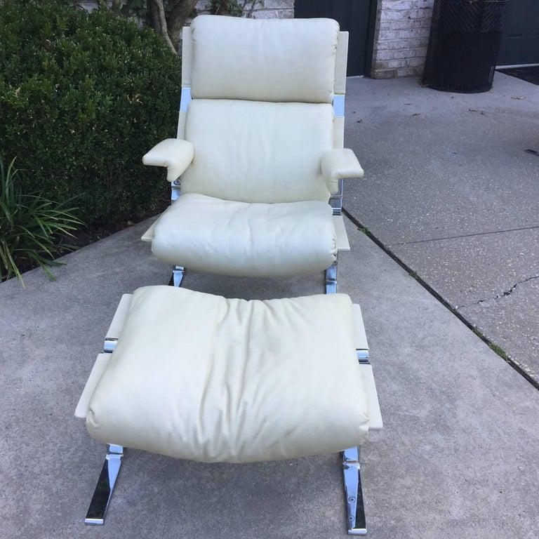 Saporiti Lounge Chair and Ottoman 2
